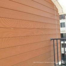 Tapume composto plástico de madeira recicl de Wpc do painel de parede