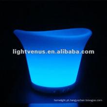 Balde de Gelo LED com Mudança de Cor RGB