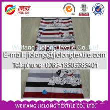 Shandong Textile 100% algodón impreso sábana de tela