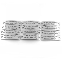 Various Color Engraved Words Fashionable Bracelet for Special Occasion