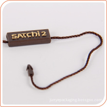 China hang tag supply plastic string tag with logo print OEM