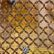 Anel Metal Mesh Cortina Teto Decorativo
