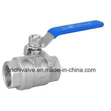 Ss316L пластиковая ручка крышки PTFE уплотнения резьба 2PC шаровой кран