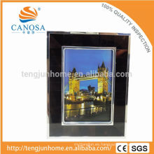 Eco Friendly Pen Shell marco de fotos con borde de plata
