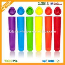 BPA Livre Molho de Popsicle do gelado do silicone do Eco-friendly / moldes do Popsicle do silicone