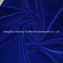 Royal Blue Woven Fabric Micro Velvet 9000