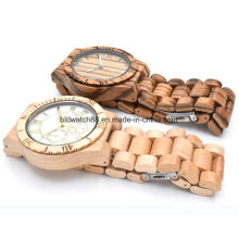 Wooden Watch for Men Women Zebrawood Analog Wood Watch