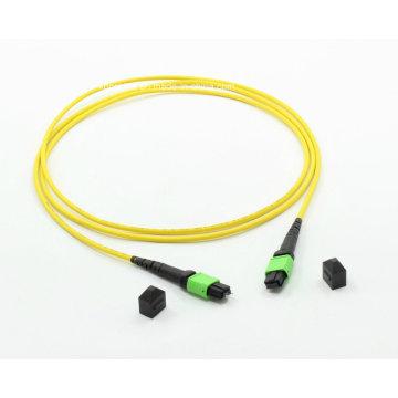 MTP / MPO Cable de conexión de fibra óptica monomodo 12cores