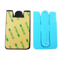 Custom 3M Silicone Cell Phone Cases with Card Wallet and Holder