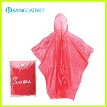 Cheap Clear PE Plástico Disposbale Rain Poncho