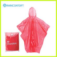 Manteau de pluie PE jetable promotionnel