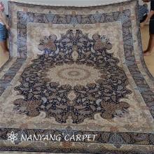 10'x14 'Tabriz persischer Seidenteppich Handgewebter Bodenteppich