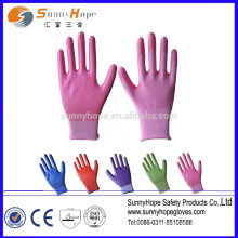 13 gauge garden color nitrile glove