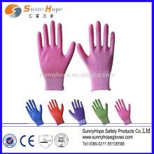 13 gauge garden color nitrile glove