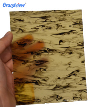 Solid surface glossy translucent pattern acrylic sheet for decoration