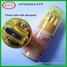 Stationery Set Color Pencil Cap with Sharpener