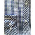 Chemise d'affaires en tissu teint en fil de coton