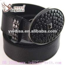 Venta caliente clásico negro cinturón de cuero Venta al por mayor