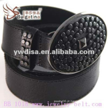 Hot Venda Clássica Plain Black Leather Belt Atacado