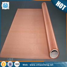 Material de protección de onda electromagnética de malla de alambre micro impregnada de cobre rojo