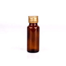 Factory sale empty 20ml round amber oral liquid glass bottle for syrup medicine liquid with aluminum screw cap