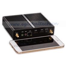 Niedrigster Fanless Mini PC Celeron Doppelkern-Palmen-Computer-Legierung Itx Fall HDMI 1080P Rahmen