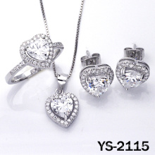 New Design Jewelry Set Heart Shape 925 Silver Jewelry.