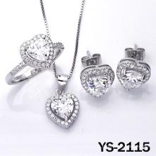 Nova jóia do projeto conjunto coração forma 925 jóias de prata.