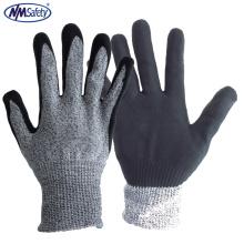NMSAFETY ладони en388 новейший Стандарт ПЭВД порезостойкие перчатки промышленной безопасности перчатки с CE