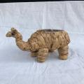 Pote decorativo de camelo tecido com algas marinhas