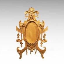 Statue de miroir de table Sculpture en bronze de style européen TPE-930/931