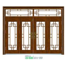 Seguridad de acero vidrio puerta diseño clásico oval acero puerta de cristal popular
