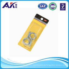 4.5X50mm ojos de tornillo plateado de zinc (2 piezas en un paquete)