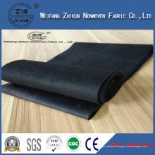 Tissu non-tissé noir de 100% pp pour des sacs à provisions / sacs de cadeaux