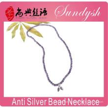 Perles en cristal cru à la main unique perlé 925 feuilles charmes bracelet collier perlé