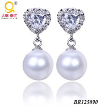Moda 2014 joyas pendientes perla pendientes de agua dulce (BR125090)