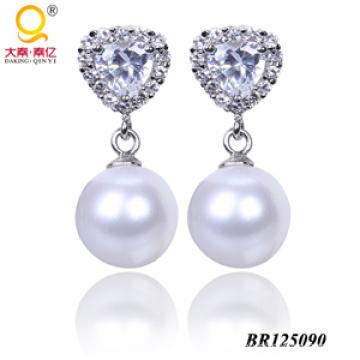 Boucles d'oreilles de bijouterie de mode 2014 Boucles d'oreilles en perles d'eau douce (BR125090)