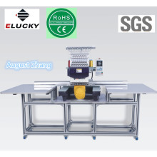Elucky 15 colors high speed single head embroidery machine FOR FLAT on hot sale