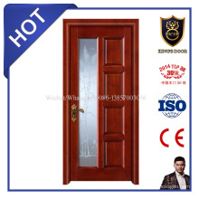 Puerta de madera de la oficina de suministro de fábrica con vidrio / puertas de cristal enmarcadas de madera