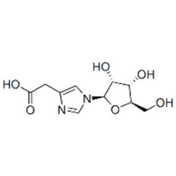2-[1-[(2R,3R,4S,5R)-3,4-dihydroxy-5-(hydroxymethyl)oxolan-2-yl]imidazol-4-yl]acetic acid CAS 29605-99-0