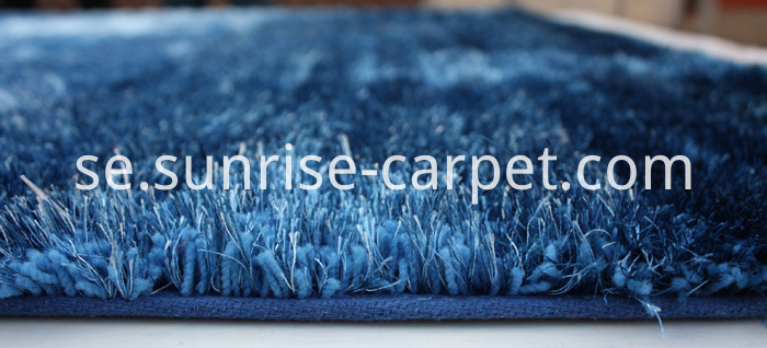 Elastic and Viscose mixed with 3D design Shaggy Rug