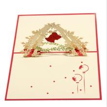 FQ marque papier découpé à la main personnalisé décoration 3d joyeux noël carte