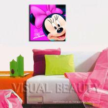 Minnie Pictures Pintura de la historieta de la impresión de la pared