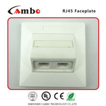 Made In China free sample 1/2/4 Port wall plate cat 6 panel mount rj45 jack