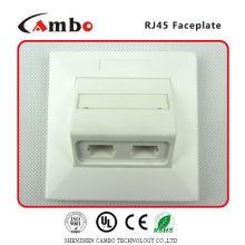 Лучшая цена бесплатно образец 1/2/4 порта настенной панели cat 6 rj45 разъем