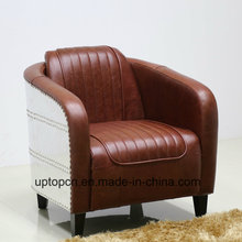 (SP-KS390) Salon de salon moderne en cuir marron pour salon
