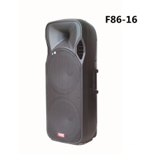Double 15 Inch Bluetooth Speaker with Wireless Mic F86-16