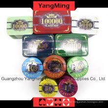 Juego de fichas de póquer acrílico (760PCS) Ym-Focp003
