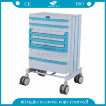 AG-WNT001 moving ABS plastic medical emergency drugs trolley