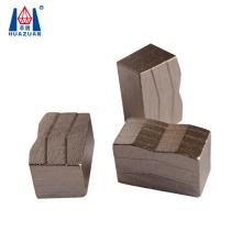 Huazuan tool M shape granite stone block diamond cutting segment for large saw blade 3000mm